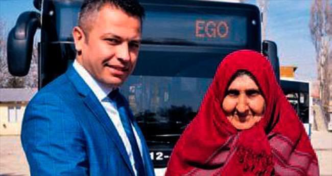 EGO şoförü, Zeynep teyzeyi sevindirdi