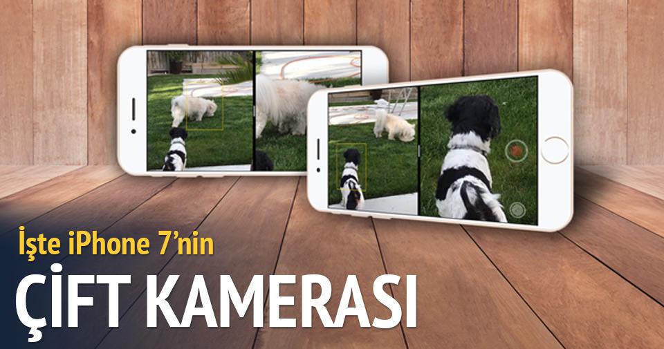 iPhone 7'nin çift kamerası böyle çalışacak