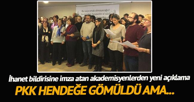 PKK sevici akademisyenlerden açıklama