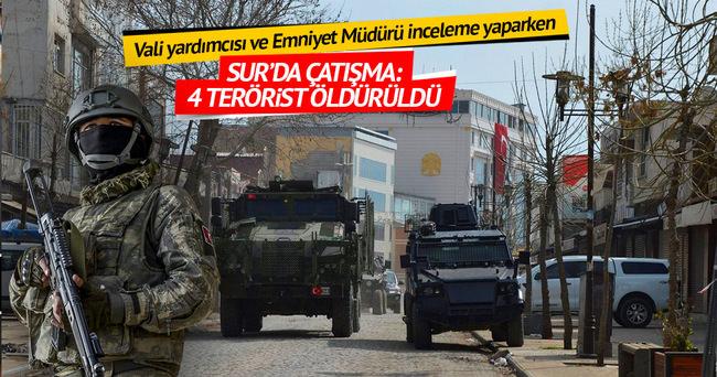 Sur'da inceleme sırasında çatışma: 4 terörist öldürüldü