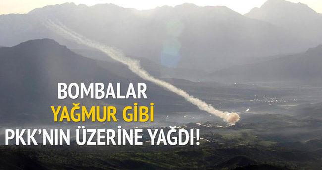 Obüsler PKK'yı vurdu!