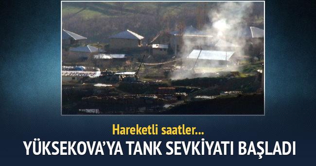 Yüksekova'ya tank sevkiyatı