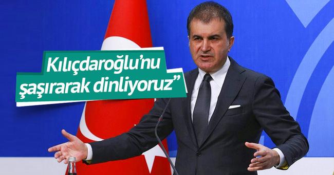 Ömer Çelik: Kılıçdaroğlu'nu şaşırarak dinliyoruz