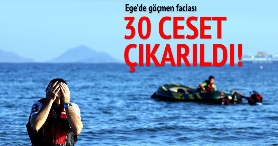 Ege'de göçmen faciası! 30 ceset çıkarıldı
