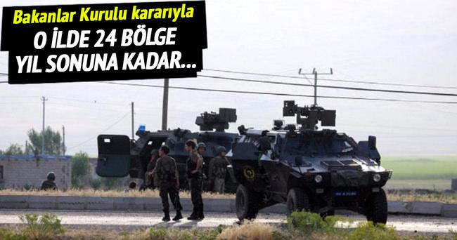 Batman'da 24 bölge askeri güvenlik bölgesi ilan edildi