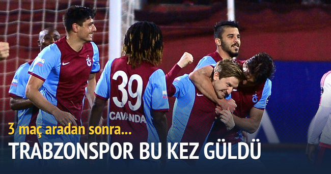 Trabzonspor 3 maç aradan sonra galip