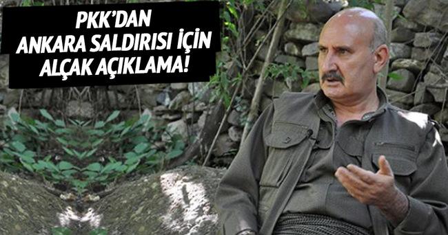 PKK'dan Ankara saldırısı için alçak açıklama!