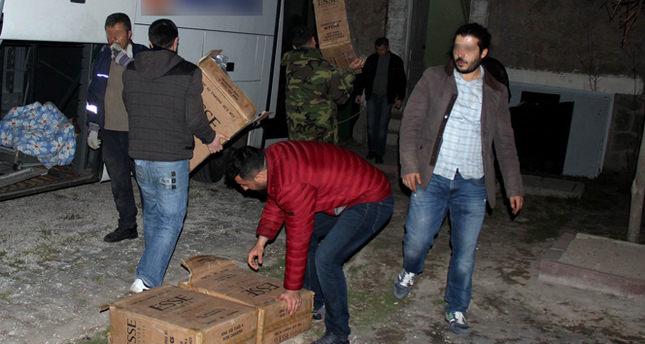 500 bin tl değerinde kaçak sigara yakalandı