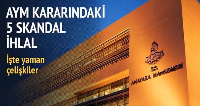 AYM kararındaki 5 skandal ihlal