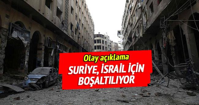 Suriye, İsrail için boşaltılıyor