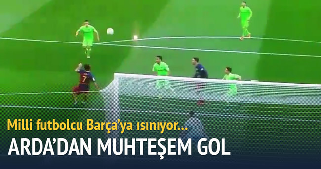 Arda Turan'dan rövaşata golü!