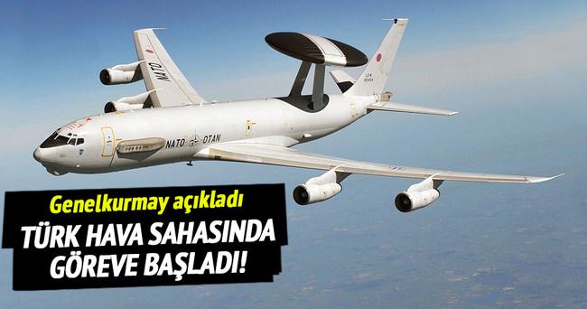 NATO uçağı, Türk hava sahasında