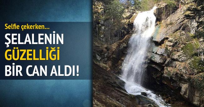 Bursa'da bir genç selfie çekerken şelaleden düştü!