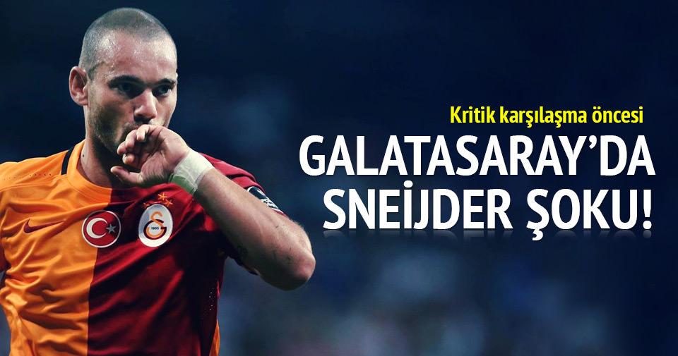 Gençlerbirliği maçı öncesi Galatasaray'da Sneijder şoku!