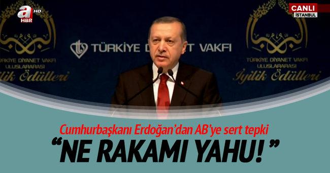 Cumhurbaşkanı Erdoğan'dan AB'ye sert tepki