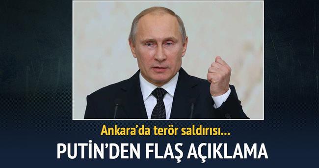 Putin Ankara'daki saldırıyı kınadı