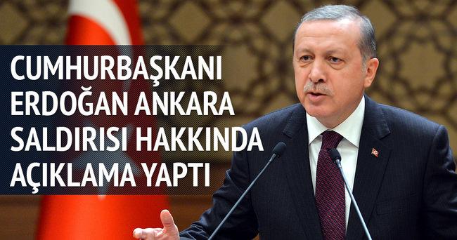 Erdoğan: Meşru müdafaa hakkımızı kullanmaktan vazgeçmeyeceğiz