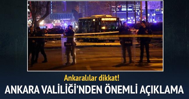 Ankara Valiliği: 14 Mart'ta Kızılay trafiğe kapalı