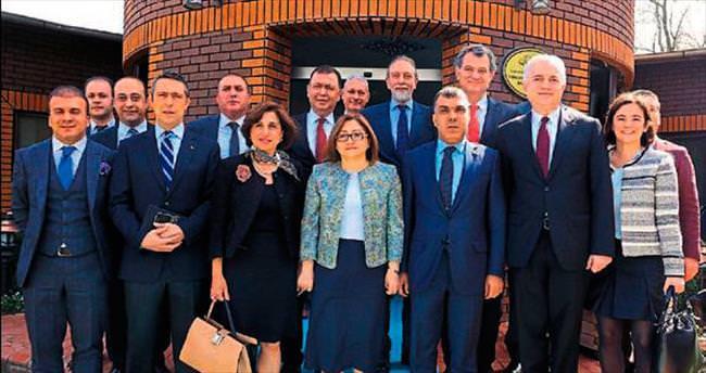 TÜSİAD heyetinden Başkan Şahin'e ziyaret