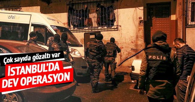 İstanbul'da terör örgütüne şafak operasyonu