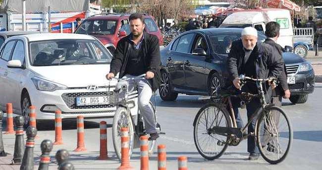 Konya'da 600 bin bisiklet var