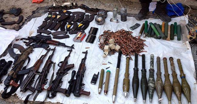PKK'nın silah deposu toprak altından çıktı