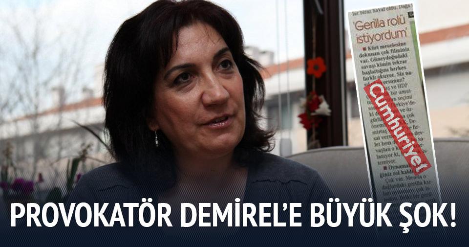 Provokatör Demirel'e büyük şok