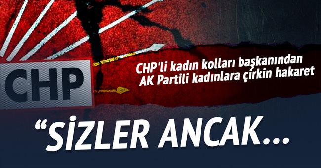 CHP'li kadın kolları başkanından AK Partili kadınlara hakaret