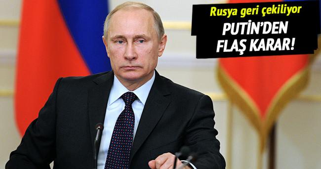 Putin'den flaş karar! Rus askeri geri çekiliyor