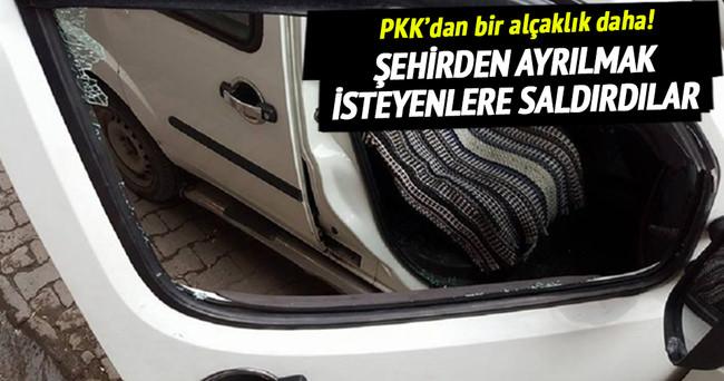 PKK'lı teröristler evini terk edenlere ateş açtı