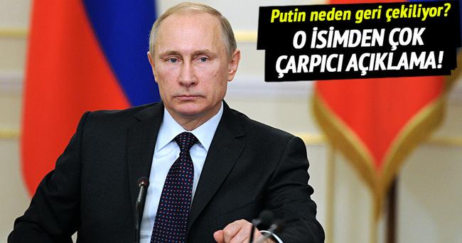 Rusya'nın Suriye'den çekilmesiyle ilgili flaş açıklama!