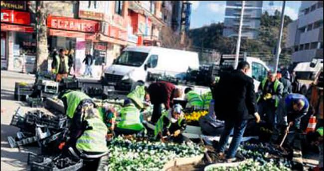 Kırıkkale'de caddeler çiçek açtı