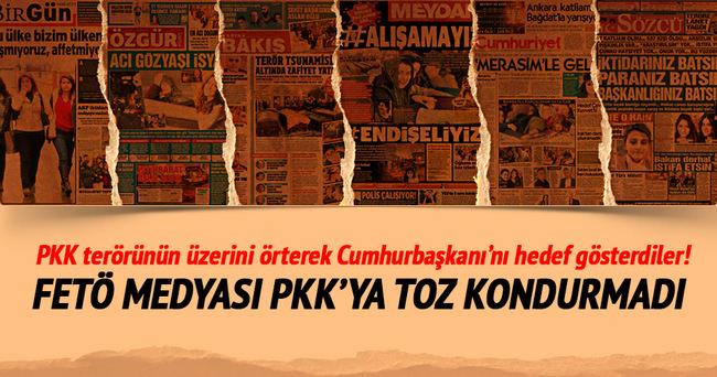 PKK terörünün üzerini örterek Cumhurbaşkanı'nı hedef gösterdiler!