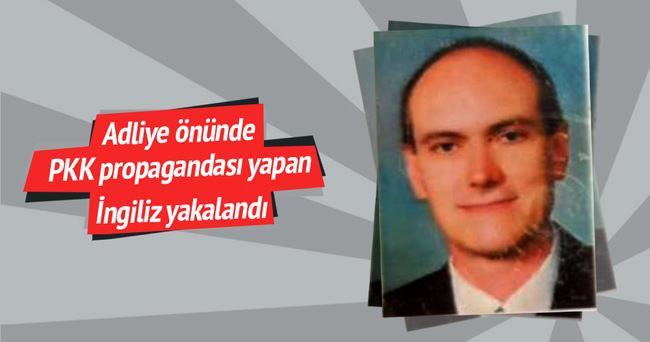 İngiliz Christopher PKK lehine bildiri dağıtırken yakalandı