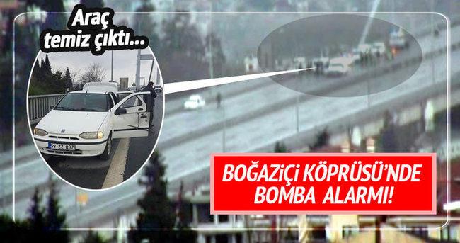 Boğaziçi Köprüsü'nde bomba alarmı!