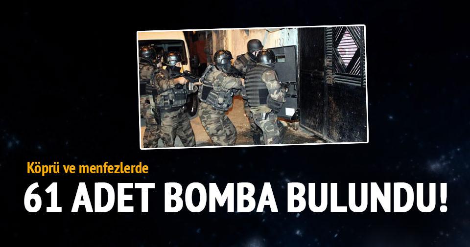 Bismil'de köprü ve menfezlerde 61 adet bomba ele geçirildi!