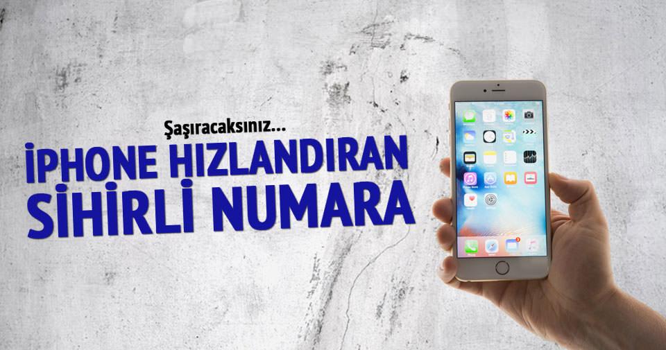 İPhone'u hızlandıran numara