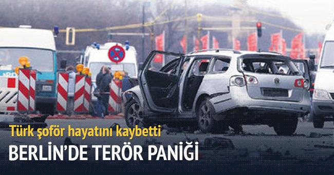 Berlin'de Türk'ün kullandığı araç patladı