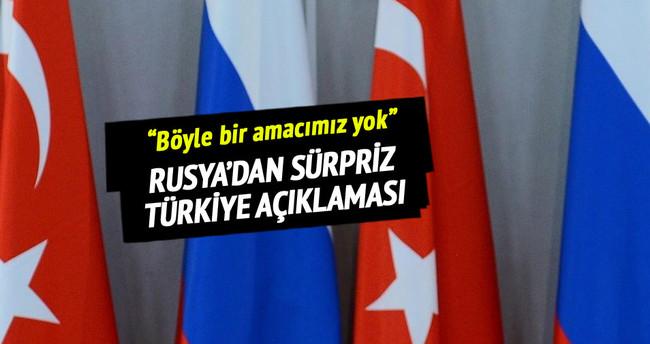 Rusya'dan şaşırtan Türkiye açıklaması