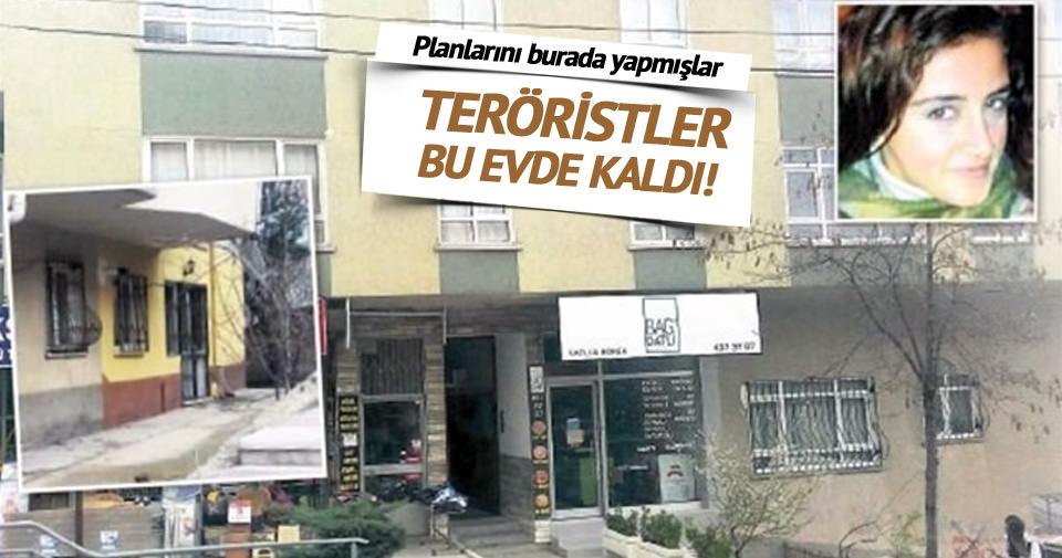 PKK'lı teröristler bu evde kaldı