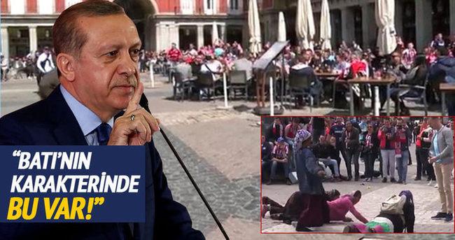 Cumhurbaşkanı Erdoğan'dan PSV taraftarı hakkında açıklama!