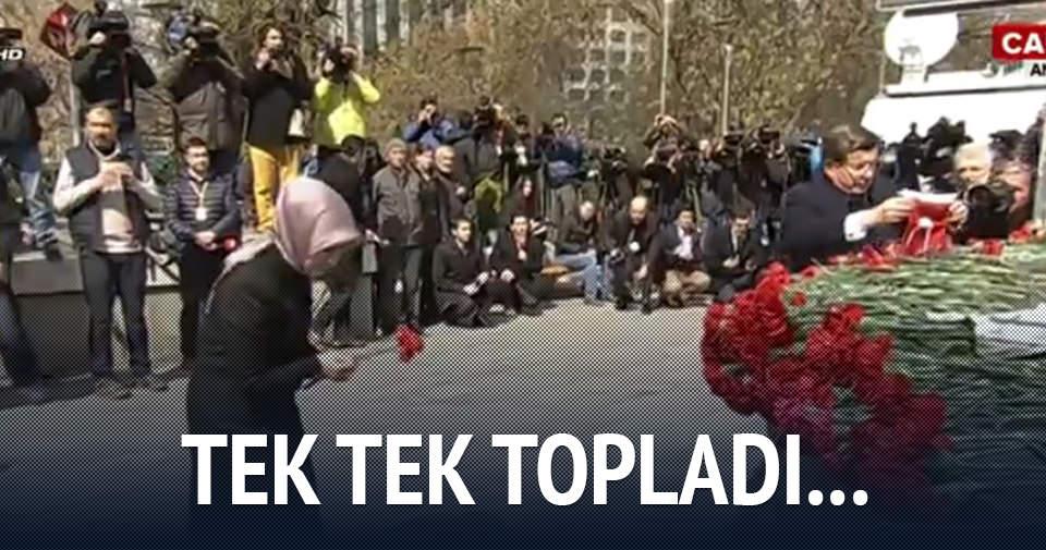 Başbakan Davutoğlu Ankara'da patlamanın olduğu yeri ziyaret etti
