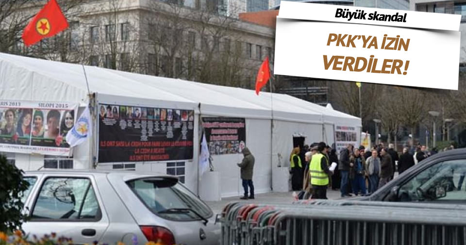 PKK'ya izin verdiler: Avrupa'nın göbeğinde...