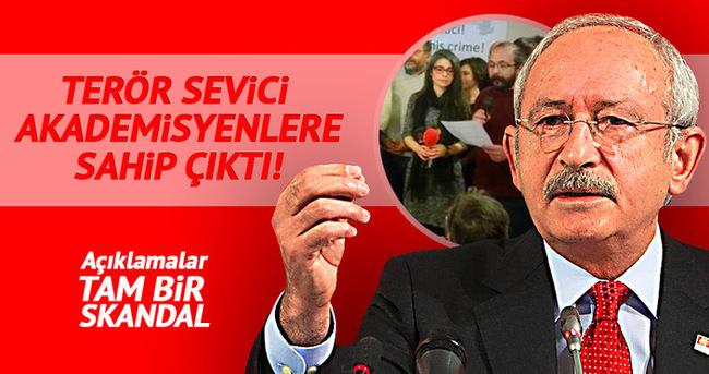 Kılıçdaroğlu terör sevici akademisyenlere sahip çıktı!