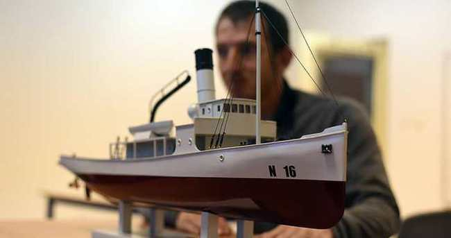 'Nusret' mayın gemisinin maketini yaptı