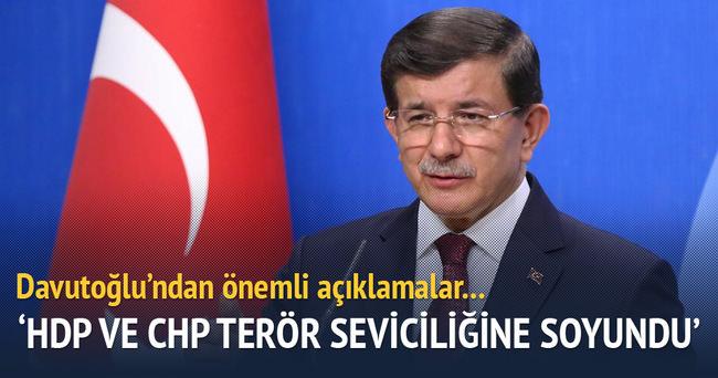 'HDP ve CHP terör seviciliğine soyundu'