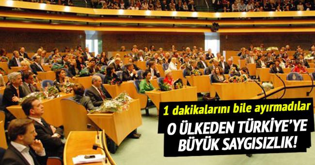 Hollanda'dan Türkiye'ye büyük saygısızlık!