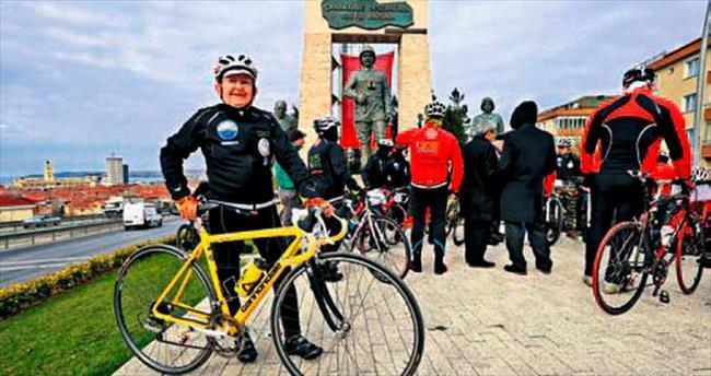 Kudret dede bisikletiyle Çanakkale yolunda