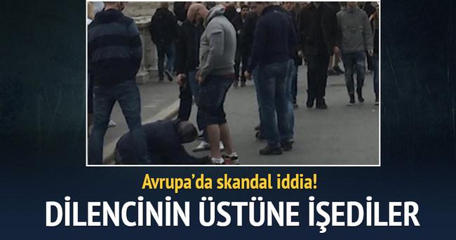 'Sparta Prag taraftarları dilenci kadının üzerine işedi' iddiası