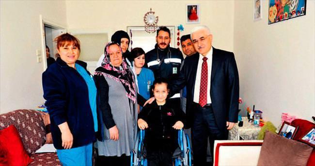 Esma'nın tekerlekli sandalye heyecanı
